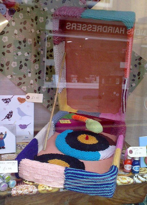 knitted record player
