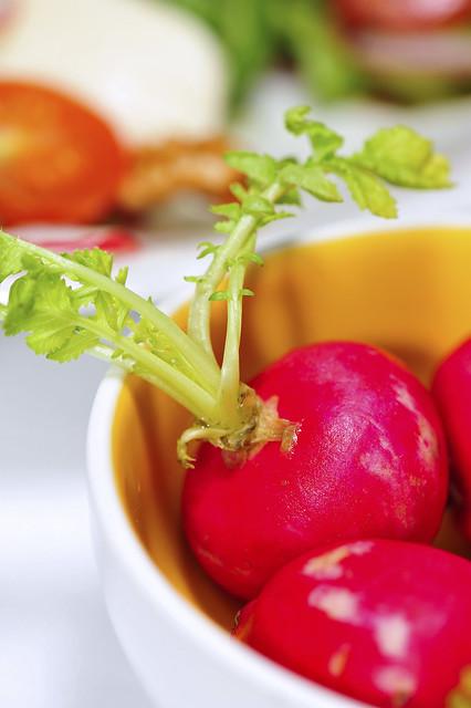 Radish, Tomato and Mozzarella Cheese