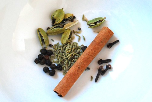 chai spices close up