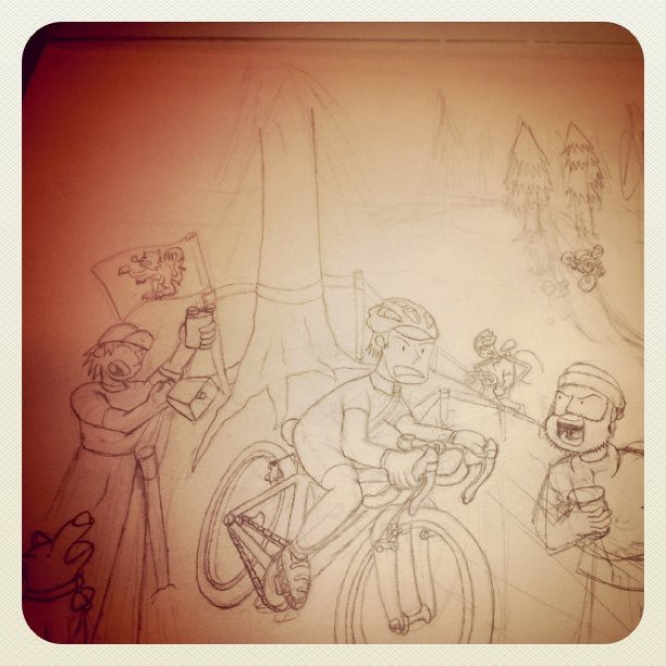 More progress on the same drawing. I'm slow. Sorry for gratuitous instagram usage.
