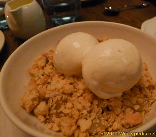 Red Plum & Pear Crumble at The Riding House Cafe