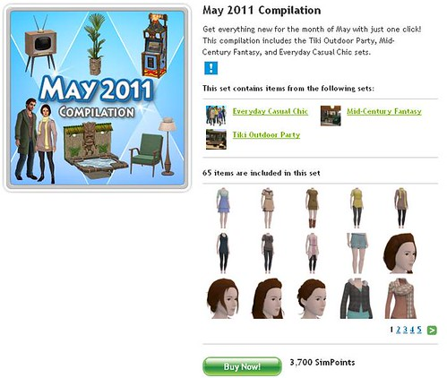New Store Sets for May 2011