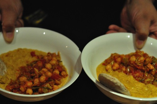 Chickpea Masala and Dal