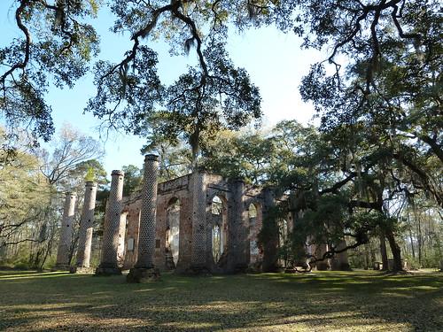 Ruins of Old Sheldon Church, Beaufort, South Carolina