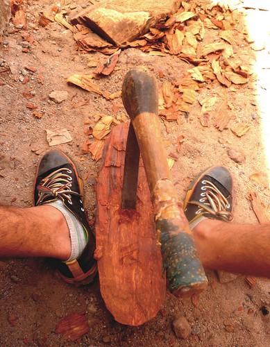Axe and feet