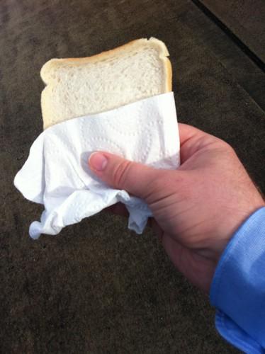 dry white toast