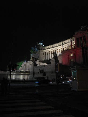 Il Vittoriano, all lit up to celebrate!