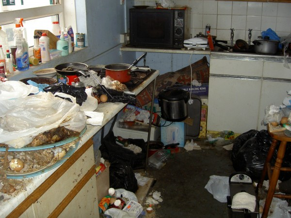 Image result for horrendous student house mess