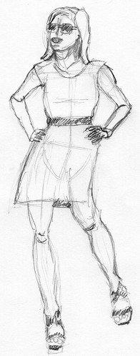 Clothed figure sketch 31 - 2011/07/01