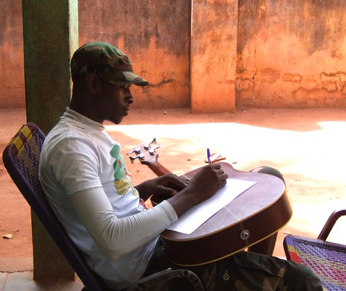 Souleymane`s final run through his song structure...