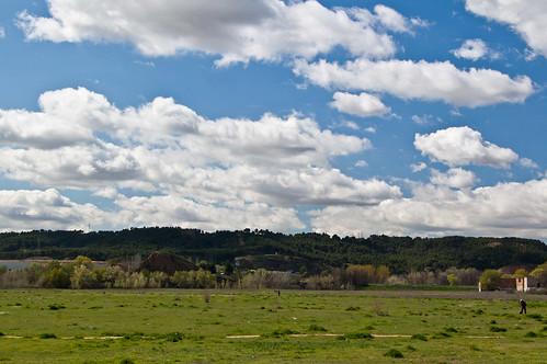 Nubes y campos