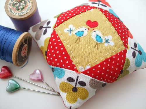 Pretty birdy pincushion