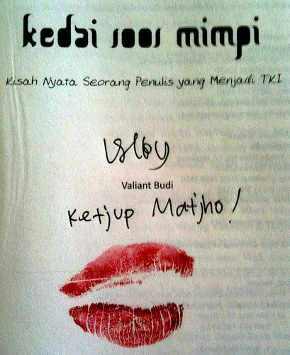 my copy... signed, kissed, delivered!