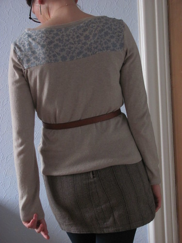 Oatmeal Cardigan refashion 2