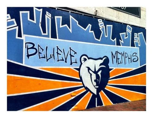 Believe Memphis mural by Siphne Sylve