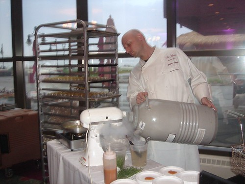 Tre Amici Executive Chef Matthew Zappoli at Chef's Challenge, Long Branch,  April 2011