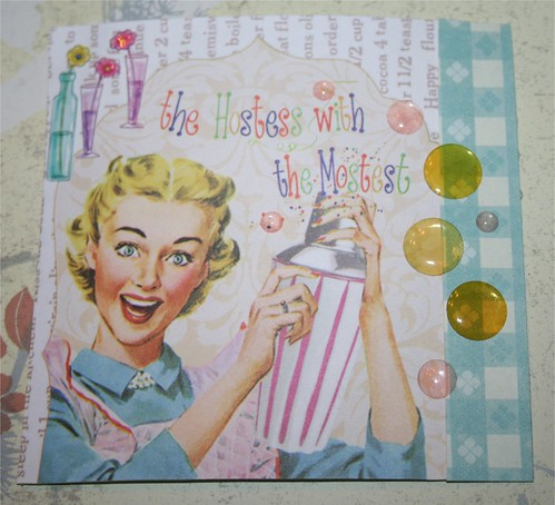 """The Hostest with the Mostest 4"""" x 4"""" Collage Card"""