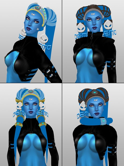 AA-Tech twi'lek lekku variations