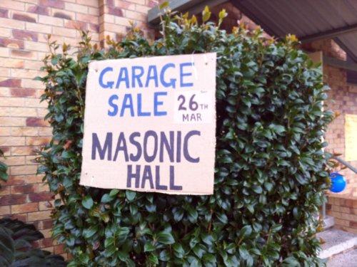 Masonic Garage Sale