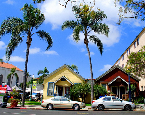 Duplex Craftsman Bungalows On State Street:  Little Italy San Diego CA