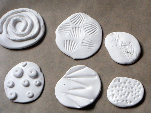 Polymer clay stamps