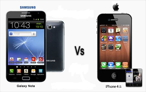 Apple iPhone 4S vs Samsung Galaxy note by sidduz, on Flickr