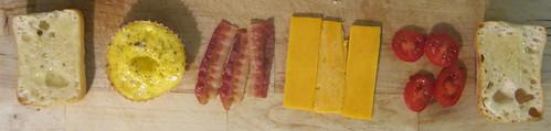 Mini Eggwiches: Dissasembled