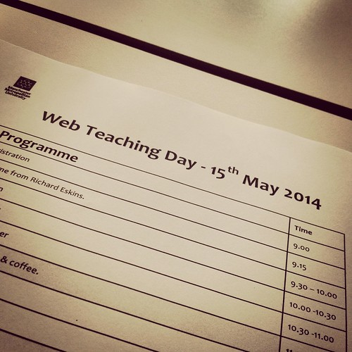 Today is all about...Web Teaching Day