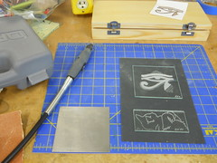 Glass etching in Jill Timm's Amazing Dremel class