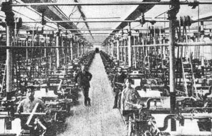Una fabbrica di Lodz nel 1906