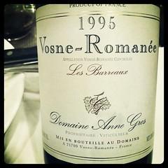 Vosne Romanee Les Barreaux 1995 Domaine Annes Gros