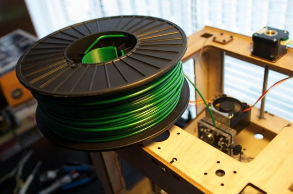 Printed filament spool holder