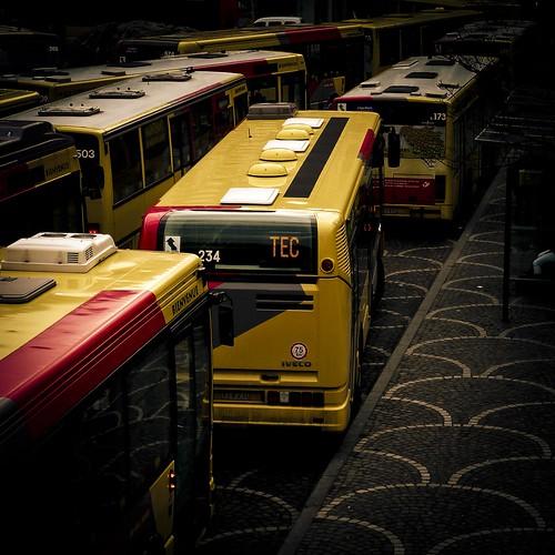 TEC= Transport en Coma (grève à Liège) - Photo : Gildéric