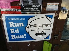 Run Ed Run sign though @MayorEdLee says he won't run #sfmayor