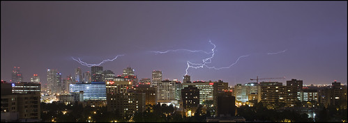 Lightning over Edmonton
