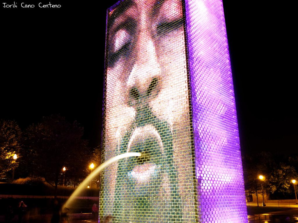 Crown Fontain, Milenium Park, Chicago. Nocturna 03