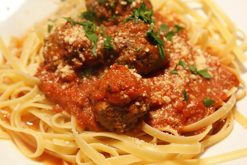 Linguine and Meatballs...classic.
