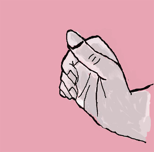Hand, digitally drawn with touchpad