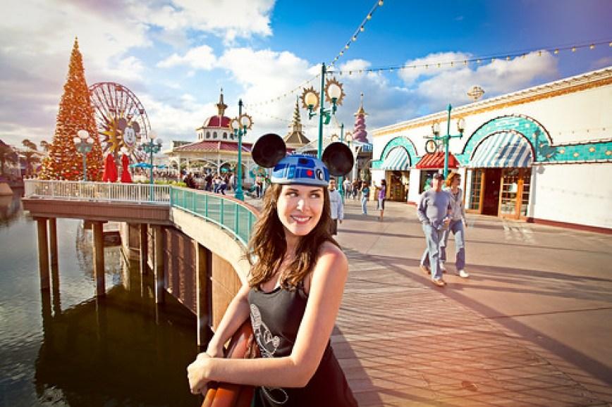 Mostly Lisa on Paradise Pier, California Adventureland