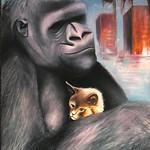 "gorilla cat <a style=""margin-left:10px; font-size:0.8em;"" href=""http://www.flickr.com/photos/30723037@N05/5242876088/"" target=""_blank"">@flickr</a>"