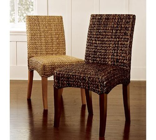 ballard designs upholstered dining chairs wood office creategirl: adding texture with pottery barn seagrass