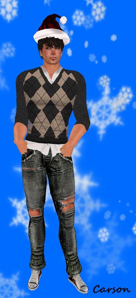 MHOH5 - #47 - Poison Jeans  MHOH5 - #70 - Shey Fashion Argyle Sweater  Grey Tan