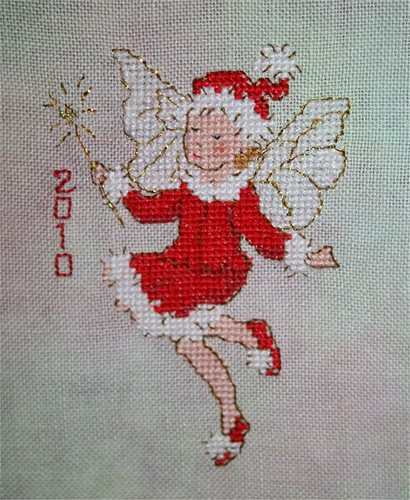 Christmas Fairy in Cross stitch