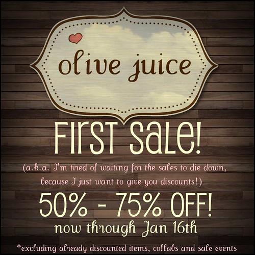 Olive Juice First Sale