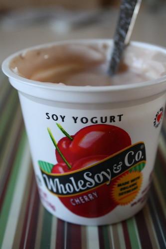 Whole Soy & Co. Cherry yogurt