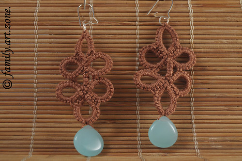 Beaded Tatting Earrings