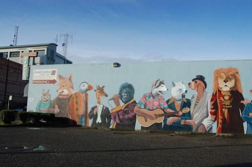 Mural in Eureka.