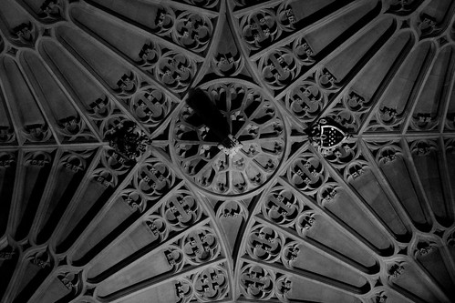 Abbey ceiling with coat of arms
