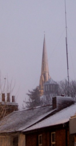 Snow Covered Spire