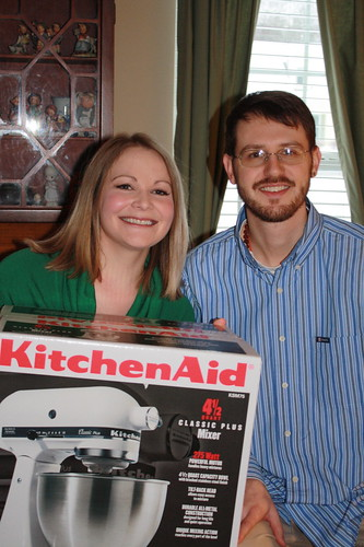 us with our new Kitchen Aid Classic Plus mixer